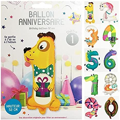 Diapositives Ballon Zèbre Animal Cheval Helium Ballon Ballon Anniversaire Enfants