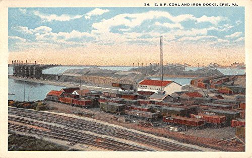 Erie Pennsylvania Coal And Iron Docks Rail Road Antique Postcard K19830