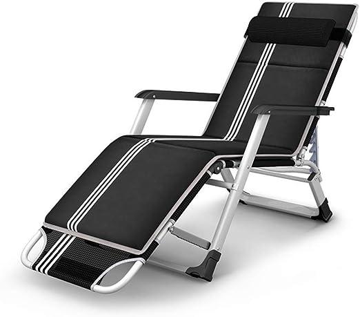 SSLW Tumbona reclinable, sofá Cama Plegable, Tumbona, Chaise Longue, Almohada, Silla Plegable de jardín, Silla Mecedora, Almuerzo Plegable, Playa, Descanso: Amazon.es: Hogar