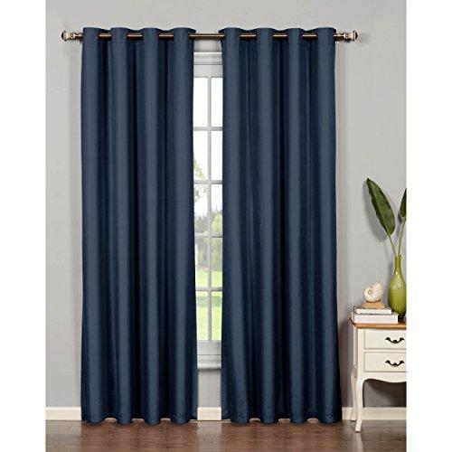 Bella Luna Euphoria Microfiber Room Darkening Extra Wide 54 x 95 in. Grommet Curtain Panel, Navy