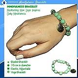 Boho Bracelets, Lava rock bracelets green, Beaded