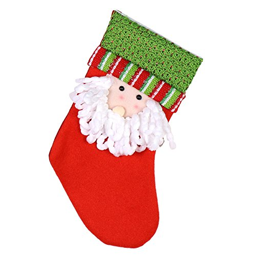 Decorative Mantle Hood - kemilove Santa Claus elk Christmas Socks Candy Gift Bag Holiday Party Decorations Gift