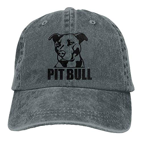 DEFFWB Hat Proud Pit Bull Denim Skull Cap Cowboy Cowgirl Sport Hats for Men Women