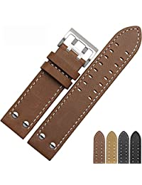 NP125 22mm Watch Band Suitable For Hamilton Watches With Steel Buckle For Men&Women
