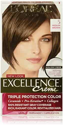 L'Oréal Paris Excellence Créme Permanent Hair Color, 5 Medium Brown