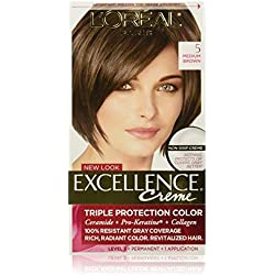 L'Oreal Paris Excellence Creme, 5 Medium Brown, (Packaging May Vary)