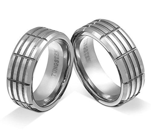 Partnerringe wolfram  Flame Partner-Ringe 2 Trauringe Partnerringe Wolfram (Tungsten ...