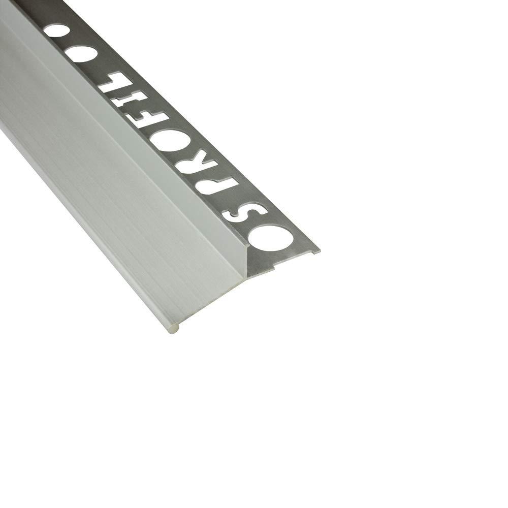 Alu Balkon Terrasse abtropf Profil Fliesenschiene Profil Schiene silber L300cm V-Profil 10mm