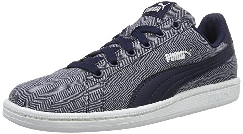 01 Unisex UK PUMA Smash Herringbone Peacoat Top Blue Adults' peacoat Low 3 Sneakers 5 OffRzqxHdw