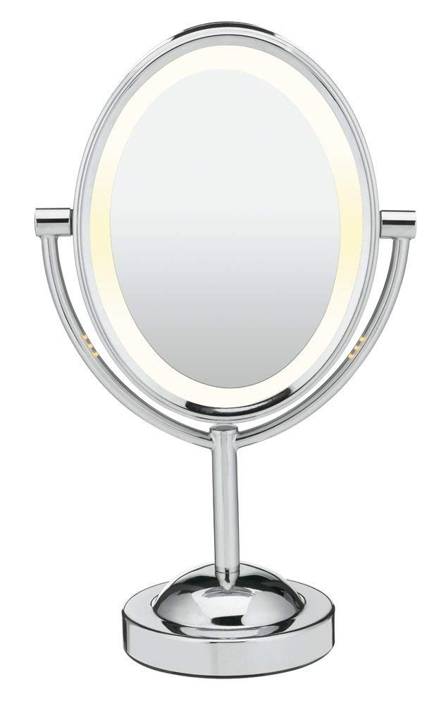 [Conair] [Double-Sided Lighted Makeup Mirror - Lighted Vanity Mirror; 1x/7x magnification; Polished Chrome Finish] (並行輸入品) B07HYXW6Y8 One Color One Size