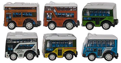 Spielzeug Spielzeug & Modellbau (Posten) 11 tlg Autobusset in Geschenkverpackung Friktionsantrieb Auto Bus Zubehör Box
