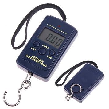 TIMETOP - Báscula digital portátil con gancho para pesca, 20 g, 40 kg: Amazon.es: Informática