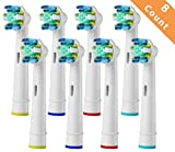 8pcs Replacement Toothbrush Heads for Braun Oral-B Floss Action Electric Toothbrush (8PCS)