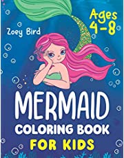 Mermaid Coloring Book for Kids: Coloring Activity for Ages 4 – 8