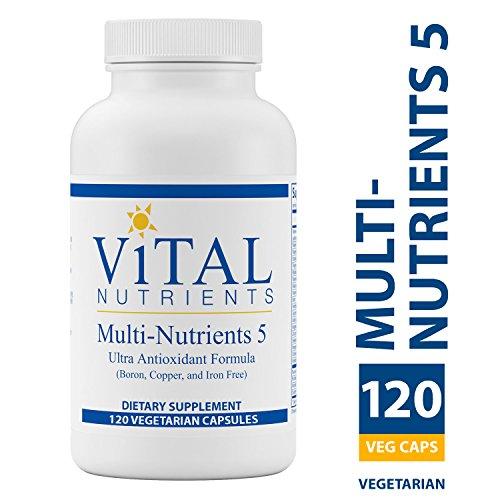 Vital Nutrients - Multi-Nutrients 5 - Ultra Antioxidant Formula (Boron, Copper, Iron Free) - Ultra Antioxidant Multi-Vitamin/Mineral Formula - 120 Capsules