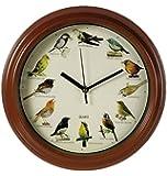 Plastic Bird Design Wall Clock