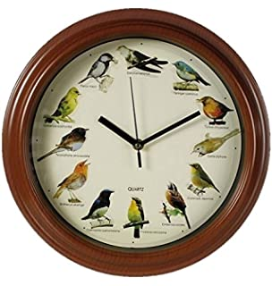 Out Of The Blue Plastic Wall Clock With Birds Design, Multi Colour, 32.0 Idea