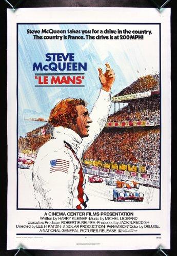 Ferrari Lemans (LE MANS LEMANS * CineMasterpieces STEVE MCQUEEN CAR AUTO RACING GARAGE PORSCHE FERRARI ORIGINAL VINTAGE MOVIE POSTER 1971)