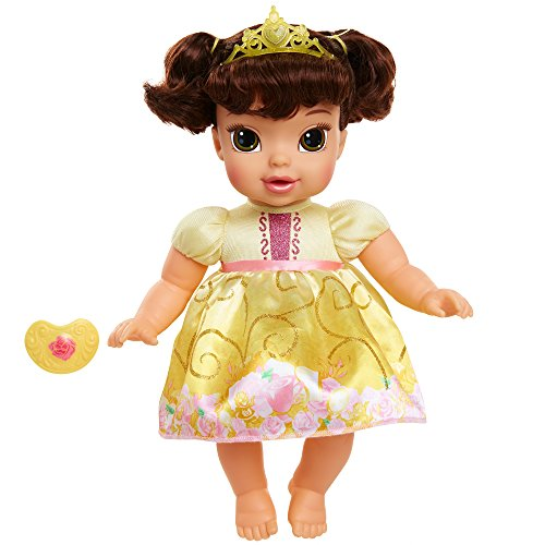 Disney Princess Deluxe Baby Belle Doll with Pacifier Toy