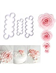 Aremazing 3D Rose Flower Ever Cutter Fondant Mold Cake Decorating Maker Mould Baking Tool Accessories