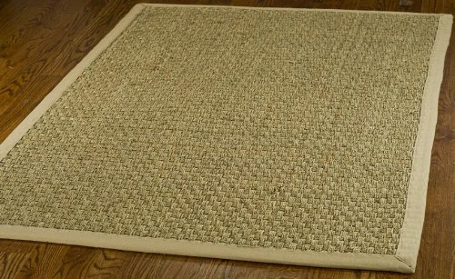 Safavieh Natural Fiber Collection NF114A Basketweave Natural and Beige Summer Seagrass Area Rug (8' x 10') (Sisal The Rug Store)