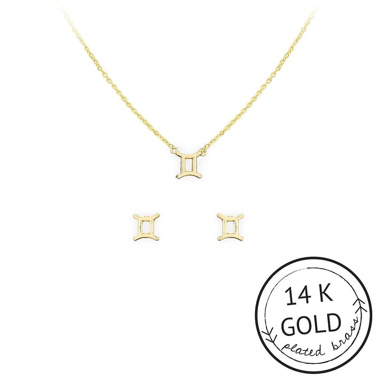 Kitsch Gemini Necklace & Stud Set