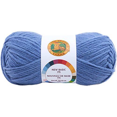 (Lion Brand Yarn 675-144 New Basic 175 Yarn, Wisteria,)