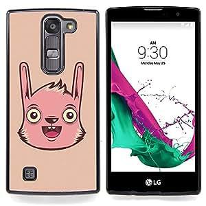 Jordan Colourful Shop - Cute Funny Pink Face For LG Volt 2 / LG G4 Mini (G4c) - < Personalizado negro cubierta de la caja de pl??stico > -