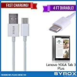 Syrox 50-Pack USB Type-C Cable, Reversible 4 ft Ultra Durable Fast Charging for Lenovo YOGA Tab 3 Plus, Samsung Galaxy Note 8, S8 Plus, LG V30, V20, G6, G5, Google Pixel, 6P, Nintendo Switch and All