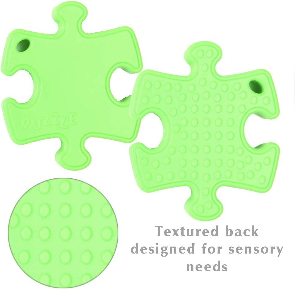 juguete de silicona de grado alimenticio para ni/ños con necesidades especiales Alivio del Estr/és y la Ansiedad TDAH Bazy Toys Collar Masticable Sensorial motricidad oral y dentici/ón autismo