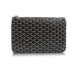 Stylesty Fashion Clutch Bag Pu Envelope Clutch Purse Women Handbag Medium Black