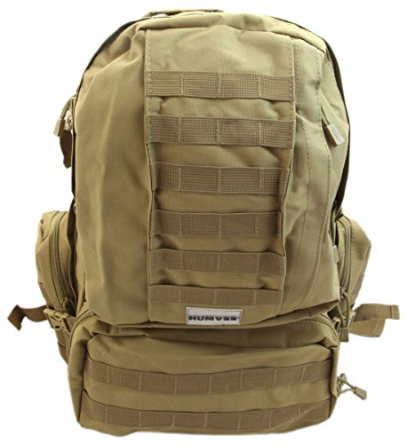 (Humvee HMV-GB-03TAN Double Reinforced 3-Day Assault Pack with Compression Handles, Digital Camo)
