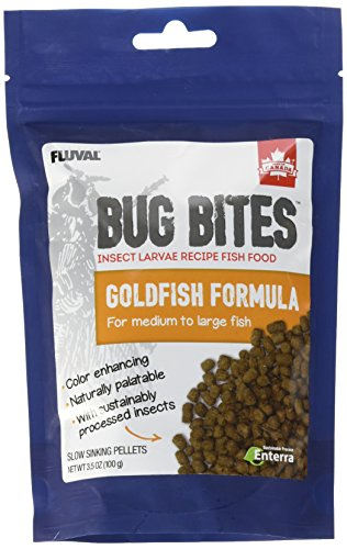 Fluval A6584 Bug Bites Goldfish Pellets 3.53 oz, Medium to Large ()