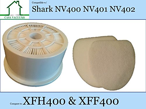 Shark Nv400 Hepa Exhaust Filter  1 Foam   1 Felt Filter  Part   Xfh400   Xff400