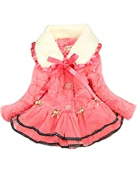 New Kids Baby Girls Long Sleeve Cotton-padded Casual Warm Coat Outerwear Clothes