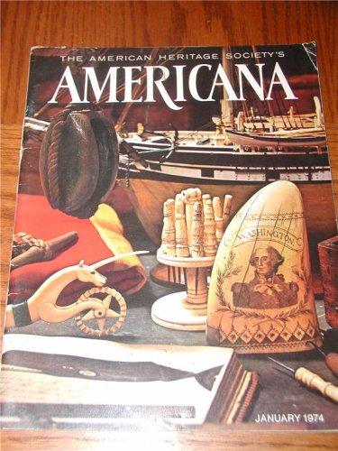 Teapot Boston - Americana Magazine January 1974 Back Issue Antiques FOLK ART Boston Teapots