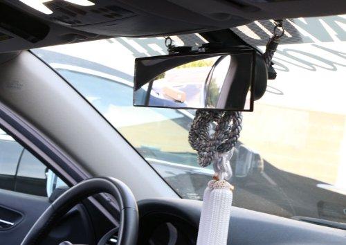 iJDMTOY Universal Fit JDM 300mm 12 Wide Flat Clip On Rear View Mirror For Car SUV Van Truck etc