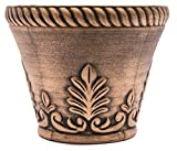 Sapphire USA Rustic Venetian Look Plastic Planter 10X8 Flowerpot for Indoor, Outdoor, Garden, Patio, Office Ornaments, Home Decor, Long Lasting Reusable, Light Weight, Water Resistant (Gold)