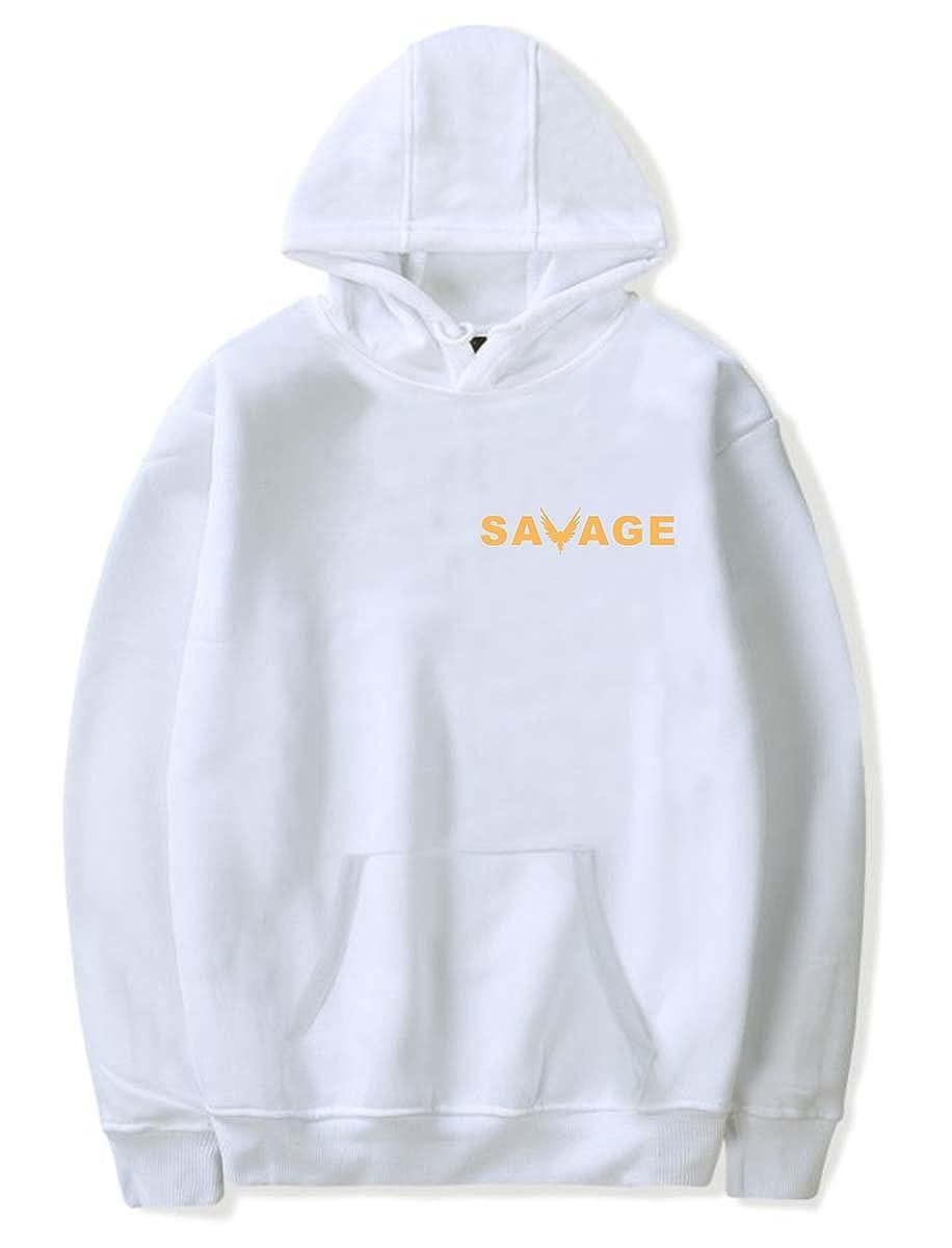 SIMYJOY Pareja Loro Dorado Pullover Loro Dorado Sudaderas con Capucha Savage Sudadera para Hombres Mujeres Adolescentes