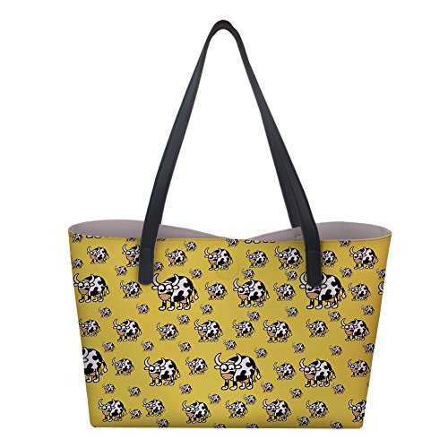 Womens Tote Designer Shopping 1 Handbag PU Bag Top Cow Leather Handle Animal Shoulder HH0Rrq