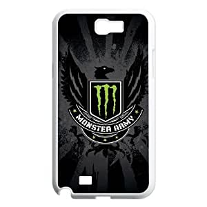 Samsung Galaxy Note 2 N7100 Phone Case White Monster Energy HCM110819