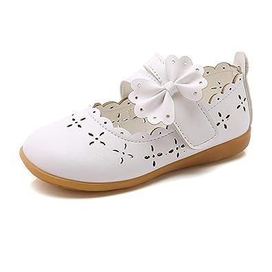 1b789c3129e3d ELECTRI Bébé Fille Princesse Chaussures Étudiants Chaussures en Cuir  Enfants Ballet Arc Bow Strappy Parti Fête