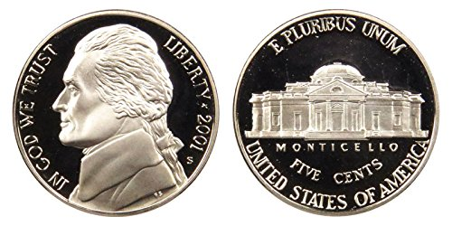 2001 S Proof Jefferson Nickel PF1