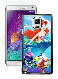 Individualization The Little Mermaid disney princess Black Customized Samsung Galaxy Note 4 Phone Case