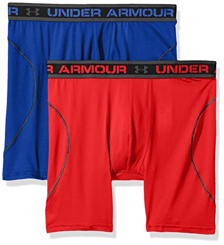 Under Armour Men's Iso-Chill Mesh 6'' Boxerjock – 2-Pack, Royal (400)/Red, Medium by Under Armour