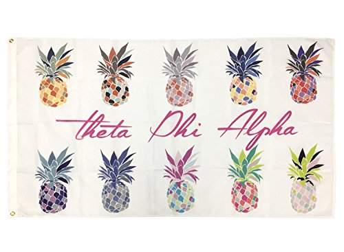 Desert Cactus Theta Phi Alpha Pop Art Pineapple Sorority Flag Greek Letter Use as a Banner 3 x 5 Feet Sign Decor (Alpha Merchandise)