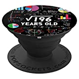 Electronics : Square Root Of 196 14th Birthday 14 Year Old Gifts Math Nerd PopSockets Grip and Stand for Phones and Tablets