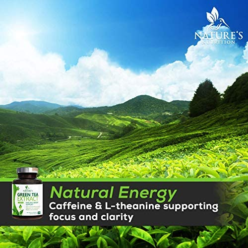 Green Tea Extract 98% Standardized Egcg for Healthy Weight Support 1000mg - Supports Healthy Heart, Metabolism & Energy with Polyphenols - Gentle Caffeine, Made in USA - 240 Capsules 7