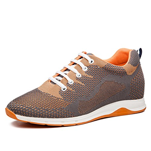 Chaussures Grey 8cm Maille Hommes Chaussures Respirant Chaussures GRRONG Sport Chaussures De Sport 6cm Chaussures qUtOxfTn