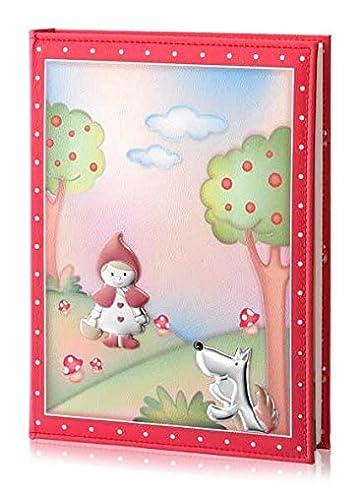 Fotoalbum und Tagebuch – Baby Collection – Linie Märchen – Rot – cm 25 x 30 BI Laminat Silber Kunstleder made in